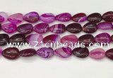 CAA4704 15.5 inches 13*18mm flat teardrop banded agate beads wholesale
