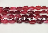 CAA4705 15.5 inches 13*18mm flat teardrop banded agate beads wholesale