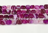 CAA4736 15.5 inches 12*12mm square banded agate beads wholesale