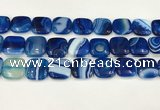 CAA4762 15.5 inches 18*18mm square banded agate beads wholesale