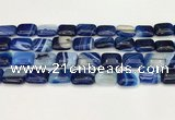 CAA4802 15.5 inches 12*16mm rectangle banded agate beads wholesale