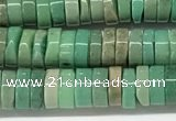 CAA4851 15.5 inches 2*5mm heishi grass agate beads wholesale