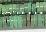 CAA4852 15.5 inches 2*6mm heishi grass agate beads wholesale