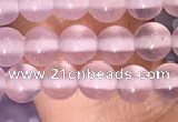 CAA5080 15.5 inches 4mm round purple agate beads wholesale