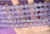 CAA5083 15.5 inches 10mm round purple agate beads wholesale