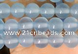 CAA5090 15.5 inches 4mm round sea blue agate beads wholesale
