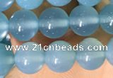 CAA5091 15.5 inches 6mm round sea blue agate beads wholesale