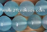 CAA5092 15.5 inches 8mm round sea blue agate beads wholesale