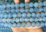CAA5093 15.5 inches 10mm round sea blue agate beads wholesale