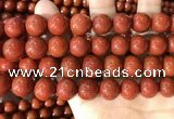 CAA5104 15.5 inches 16mm round red agate gemstone beads
