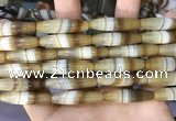 CAA5113 15.5 inches 8*30mm rice striped agate beads wholesale