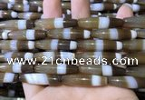 CAA5115 15.5 inches 8*33mm rice striped agate beads wholesale