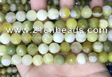 CAA5159 15.5 inches 10mm faceted round banded agate beads