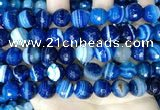 CAA5230 15.5 inches 12mm faceted round banded agate beads