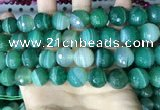 CAA5239 15.5 inches 16mm faceted round banded agate beads
