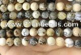 CAA5259 15.5 inches 12mm round dendrite agate beads wholesale