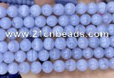 CAA5277 15.5 inches 8mm round natural blue lace agate beads