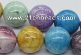 CAA58 15.5 inches 20mm round dyed white agate gemstone beads