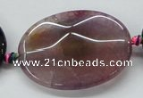 CAA582 15.5 inches 30*40mm faceted oval dragon veins agate beads