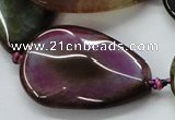 CAA588 15.5 inches 25*40mm faceted teardrop dragon veins agate beads