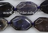 CAA595 15.5 inches 18*25mm faceted octagonal dragon veins agate beads