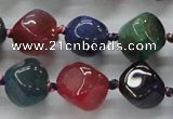 CAA607 15.5 inches 13*13mm nuggets dragon veins agate beads