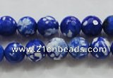 CAA798 15.5 inches 10mm faceted round fire crackle agate beads