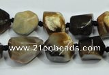 CAA977 8*10mm – 18*20mm nuggets natural fossil wood agate beads