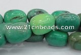 CAB04 15.5 inches 12*20mm nugget green grass agate gemstone beads