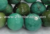CAB12 15.5 inches 18mm faceted round green grass agate gemstone beads