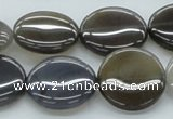 CAB351 15.5 inches 20mm flat round grey agate gemstone beads