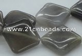CAB361 15.5 inches 20*20mm diamond grey agate gemstone beads