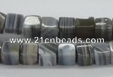 CAB363 15.5 inches 8*8mm cube grey agate gemstone beads wholesale