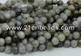 CAB65 15.5 inches 4mm round silver needle agate gemstone beads