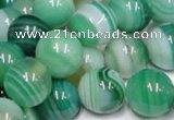CAB716 15.5 inches 10mm round green agate gemstone beads wholesale