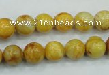 CAB935 15.5 inches 10mm round yellow crazy lace agate beads wholesale