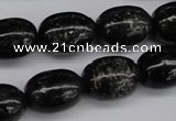 CAE17 15.5 inches 13*18mm egg-shaped astrophyllite beads wholesale