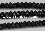 CAE32 15.5 inches 4*8mm faceted rondelle astrophyllite beads wholesale