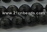 CAE37 15.5 inches 10mm faceted round astrophyllite beads wholesale
