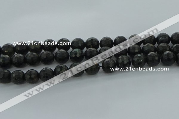 CAE39 15.5 inches 14mm faceted round astrophyllite beads wholesale