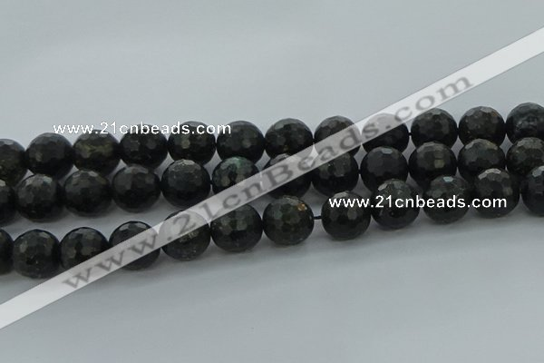 CAE40 15.5 inches 16mm faceted round astrophyllite beads wholesale