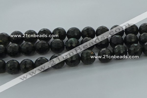 CAE41 15.5 inches 18mm faceted round astrophyllite beads wholesale