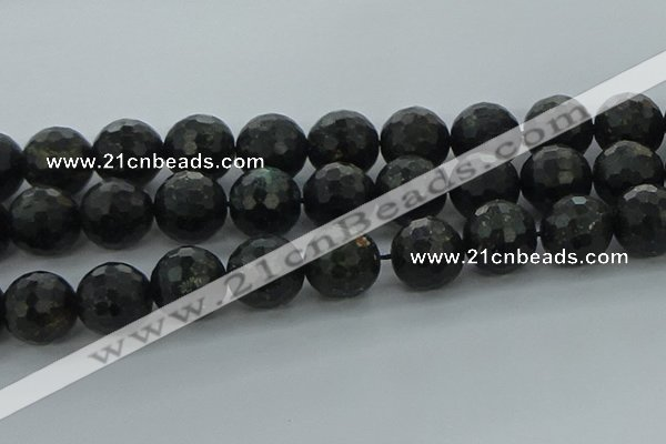 CAE42 15.5 inches 20mm faceted round astrophyllite beads wholesale