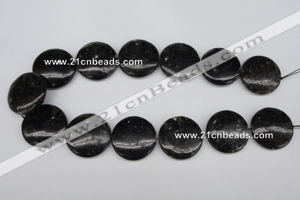 CAE50 15.5 inches 30mm flat round astrophyllite beads wholesale