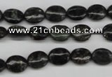 CAE54 15.5 inches 8*10mm oval astrophyllite beads wholesale