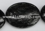 CAE63 15.5 inches 30*40mm oval astrophyllite beads wholesale