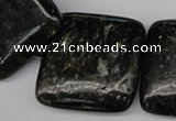 CAE84 15.5 inches 30*30mm square astrophyllite beads wholesale