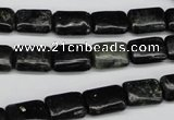 CAE88 15.5 inches 8*12mm rectangle astrophyllite beads wholesale