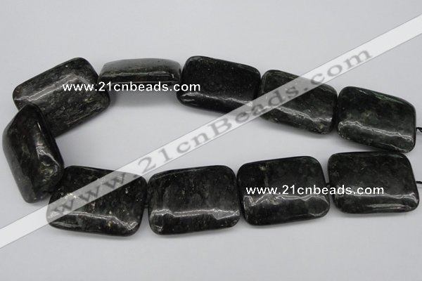 CAE96 15.5 inches 30*40mm rectangle astrophyllite beads wholesale
