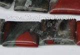 CAF02 15.5 inches 18*25mm rectangle African bloodstone beads